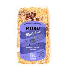 Hannun 100% Gluteeniton Muru Mustikka on suussasulava gluteeniton ja laktoositon muropiirakka aidoilla mustikoilla.