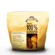 Hannun 100% Gluteeniton Kaneliässä paperisessa kauniissa ruskeassa paketissa.