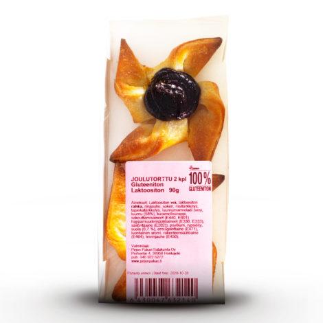 Luontaisesti gluteenittomat Joulutortut Hannun 100% Gluteeniton paketissa.