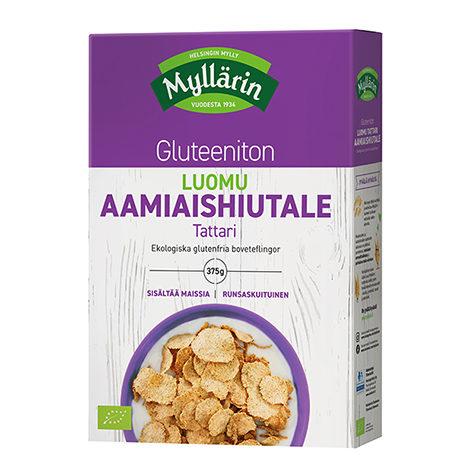 Myllärin Luomu Tattari-aamiaishiutale gluteeniton lähituottajalta